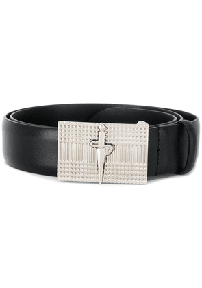 Cesare Paciotti logo plaque belt - Black