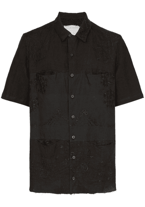 By Walid Tarek 1920s embroidered shirt - Black