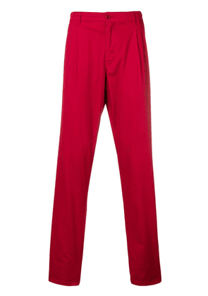 Aspesi cropped chino trousers - Red