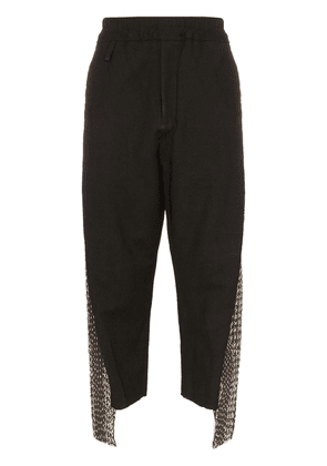 By Walid cross-stitch cropped trousers - Black