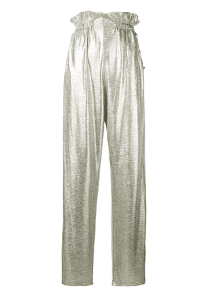 Balmain high waist palazzo trousers - Metallic