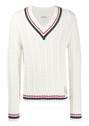 Band Of Outsiders oversized cable knit jumper - White