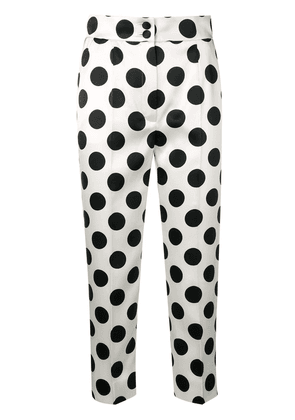 Dolce & Gabbana dotted cropped trousers - White