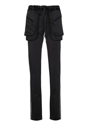 Valentino side stripe trousers - Black