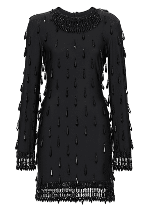Burberry Long-sleeve Embellished Mini Dress - Black