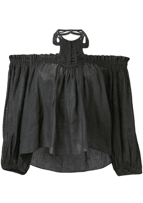 Isabel Marant off the shoulder top - Black