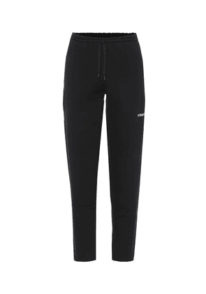 Stretch-cotton trackpants