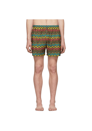 Missoni Green Zigzag Swim Shorts