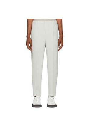 Homme Plissé Issey Miyake Grey Tapered Tailored Trousers