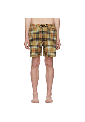 Burberry Multicolor Check Swim Shorts