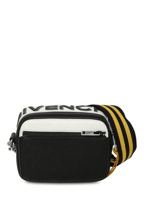 Reversible Logo Leather Crossbody Bag