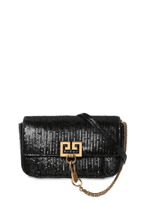 Mini Pocket Patent Leather Shoulder Bag