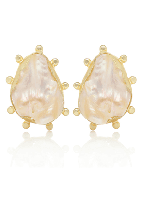 Sola 14-kt gold-plated earrings