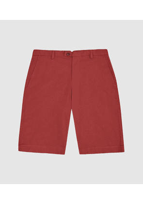 Reiss Wicket - Casual Chino Shorts in Rust, Mens, Size 28