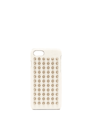 Christian Louboutin - Loubiphone Leather Iphone® 7 & 8 Case - Womens - White Silver