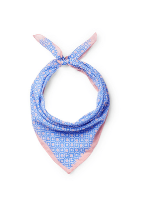 Anderson & Sheppard - Printed Cotton Scarf - Blue