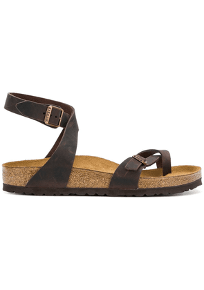 Birkenstock toe-strap buckle sandals - Brown
