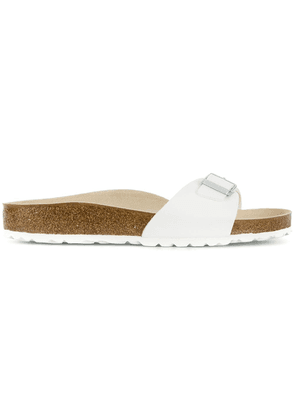 Birkenstock buckle slip-on slides - White