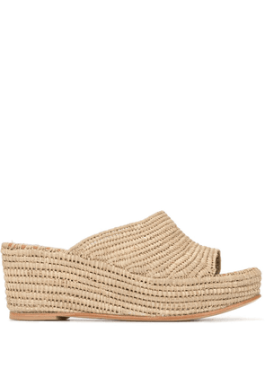 Carrie Forbes wedge slides - Brown