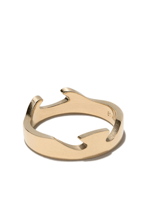 Georg Jensen 18kt yellow gold Fusion End ring