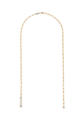 Foundrae diamond link chain necklace - Metallic