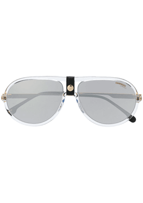 Carrera leather snap detail sunglasses - Gold