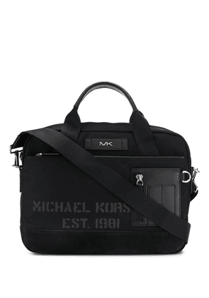 Michael Kors leather trim laptop bag - Black
