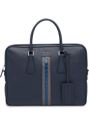 Prada Saffiano leather work bag - Blue