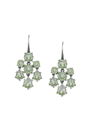 Bottega Veneta chandelier cubic earrings - Silver