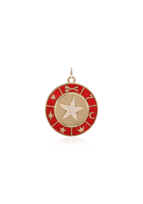 Foundrae star symbol wheel medallion - Gold