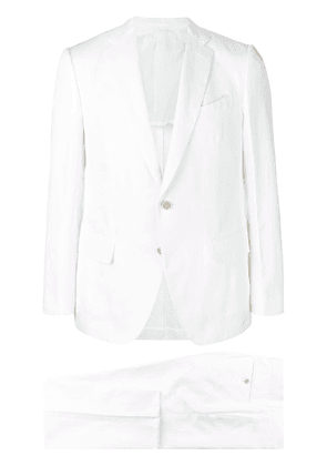 Caruso single breasted suit - White