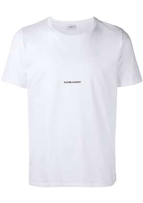 Saint Laurent logo print T-shirt - White