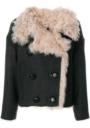 Isabel Marant double-breasted shearling jacket - Grey
