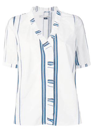 Cotélac v neck striped top - White