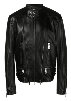 Dolce & Gabbana zip detail leather jacket - Black