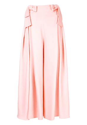 Delpozo bow detail palazzo trousers - Pink