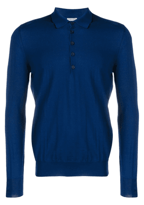 Bottega Veneta merino polo sweater - Blue