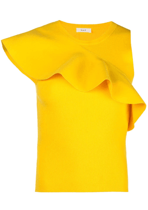 A.L.C. ruffle-trimmed top - Yellow
