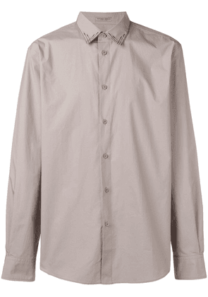 Bottega Veneta embroidered collar shirt - Neutrals