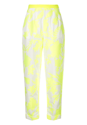 Delpozo floral print tapered trousers - Yellow