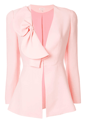 Delpozo bow-detail fitted jacket - Pink