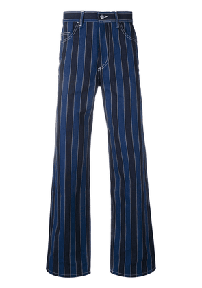 Ex Infinitas pinstripe flared jeans - Blue
