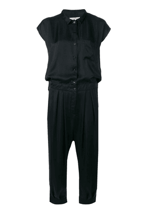 Cotélac button jumpsuit - Black