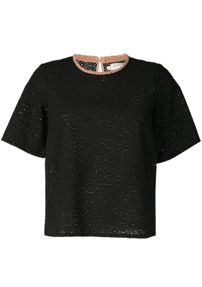 Cotélac lace blouse - Black