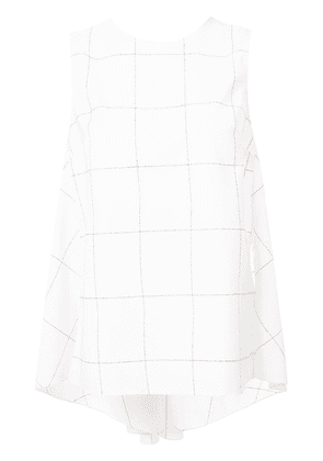 Adam Lippes checked knot detail top - Neutrals