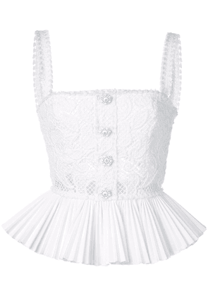 Alexis Azra crochet top - White