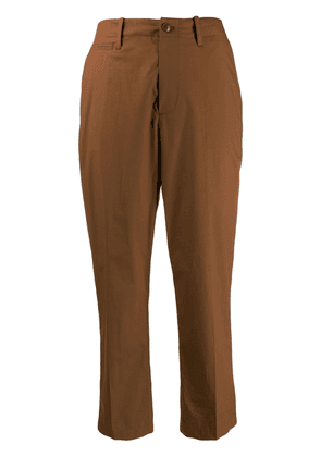 Closed cropped trousers - Brown
