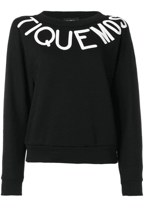 Boutique Moschino typography print sweatshirt - Black