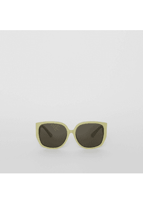 4f215a9d1802 Burberry Gold-plated Triangular Frame Sunglasses, Green | MILANSTYLE.COM