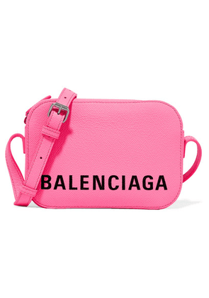 Balenciaga - Ville Xs Aj Printed Textured-leather Shoulder Bag - Pink